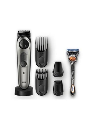 Braun Bt 7040 Saç&Sakal Şekillendirici,Autosense,Kablosuz Islak&Kuru + Gillette Hediye 10054544 Gri